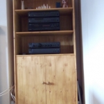 Pine stereo and storage unit