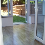 Oak floor in a conservatory