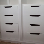 Contemporary draws within wardrobe