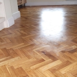 Parquet floor - Danish oil finish