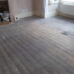 Before - Wooden floor restoration, Worthing