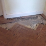 Restoring damaged parquet floor