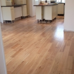 Solid oak floor in a kitchen