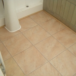 Laminate floor in a bathroom