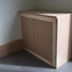 A built in cupboard (to be painted)