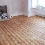 During - Wooden floor restoration, Worthing