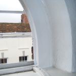 Repair to semi circular window