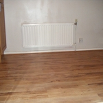 Laminate floor in a kitchen